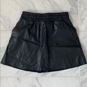 BCBG faux leather skirt with pockets